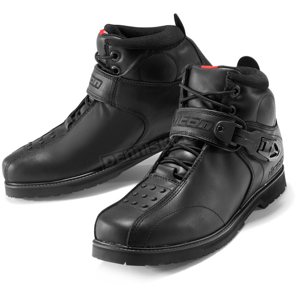Icon Black Superduty 4 Boots - 3403-0182