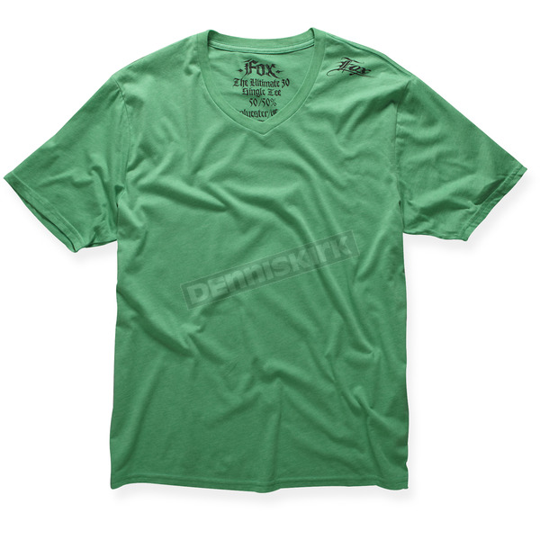Fox Heather Green VIP V-Neck T-Shirt - 37676-510-M