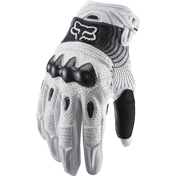 Fox White/Black Bomber Gloves - 03009-058-L(10)