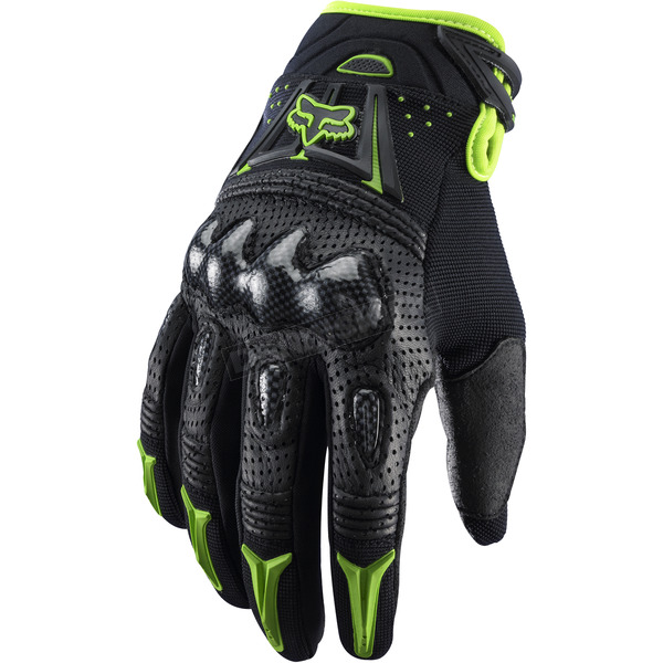 Fox Black/Green Gloves - 03009-151-M(9)