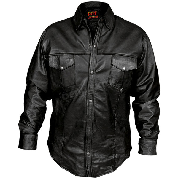 Hot Leathers Leather Shirt - LCS1001XL