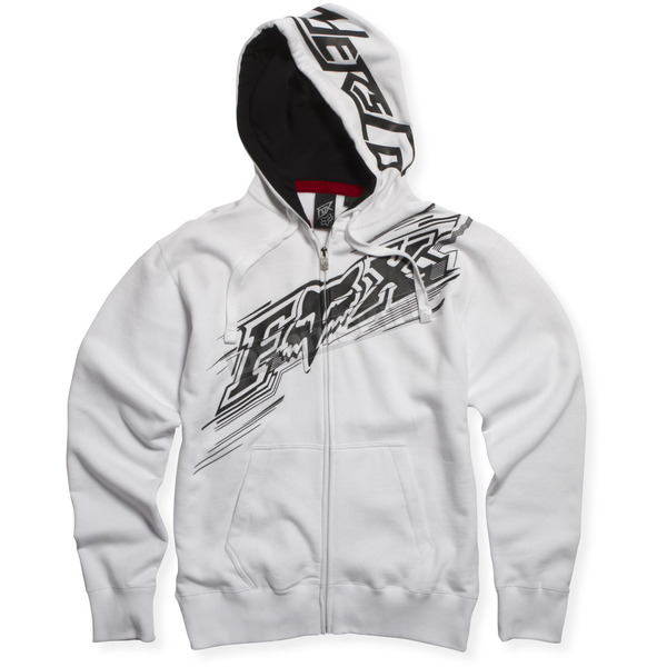 Fox White Sonic Flash Zip Hoody - 45169-008-L