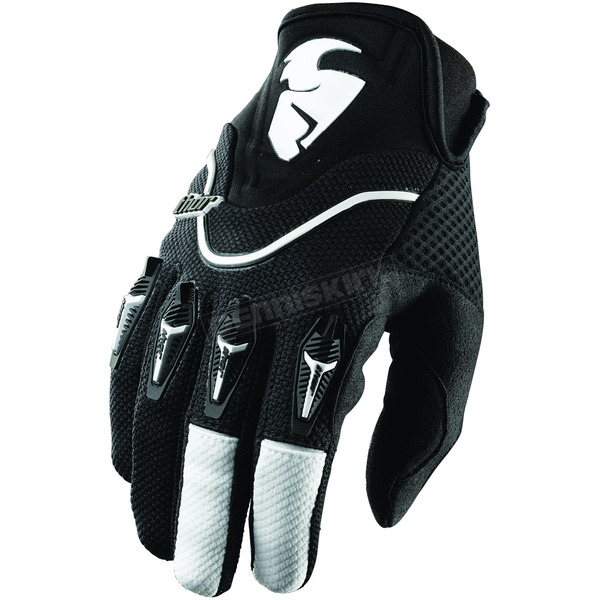 Thor Black Flow Gloves - 3330-2222