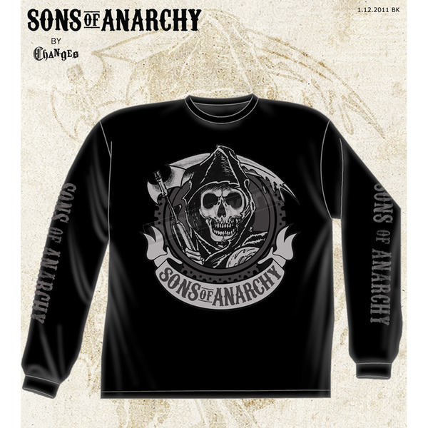 Sons of Anarchy Black Redwood Original Long Sleeve Tee - 28-401-36BK-L