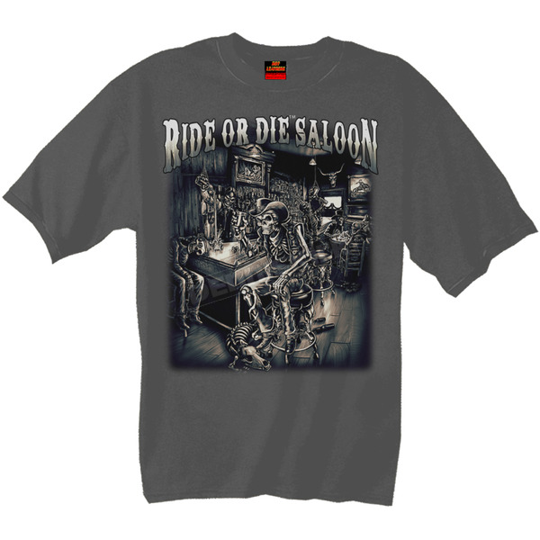 Hot Leathers Ride or Die Saloon T-Shirt - GMS1126XXL