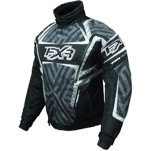 FXR Racing Black/Charcoal/Titanium Helix Hazard Jacket - 2005