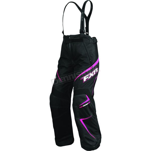 FXR Racing Womens Black/Fuchsia Velocity Pants - 2300.90110