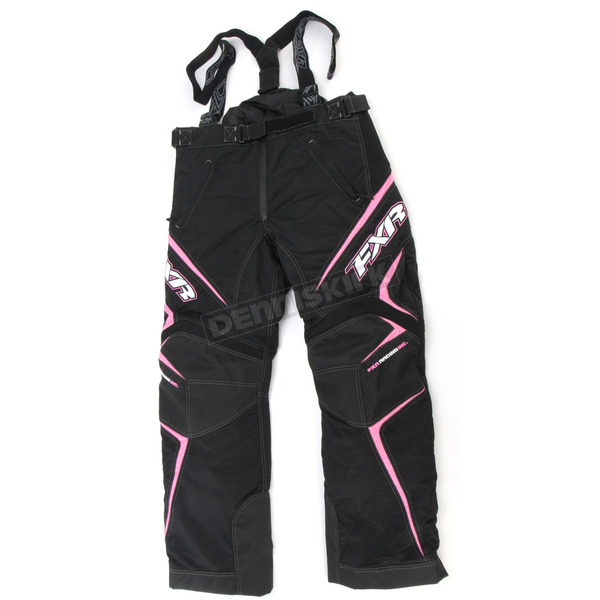 FXR Racing Womens Black/Pink Velocity Pants - 2300.90306