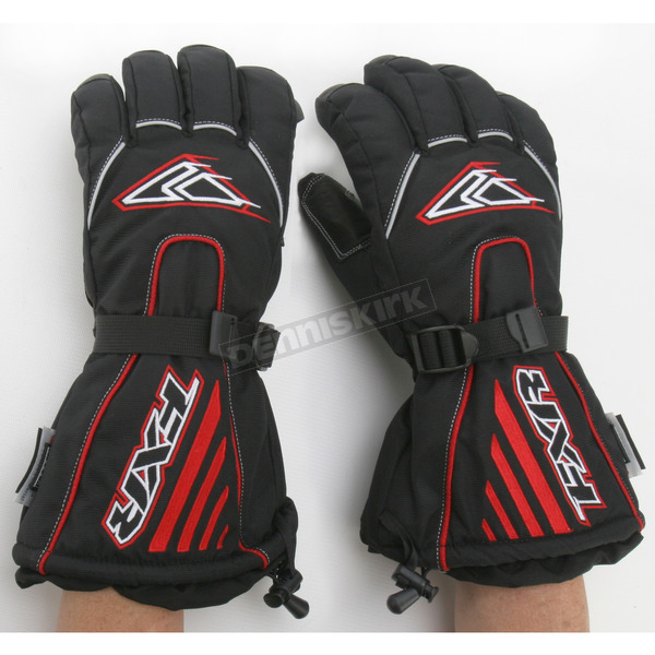 FXR Racing Black/Red Fuel Gloves - 2801