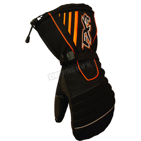 FXR Racing Black/Orange Fuel Mitts - 2802