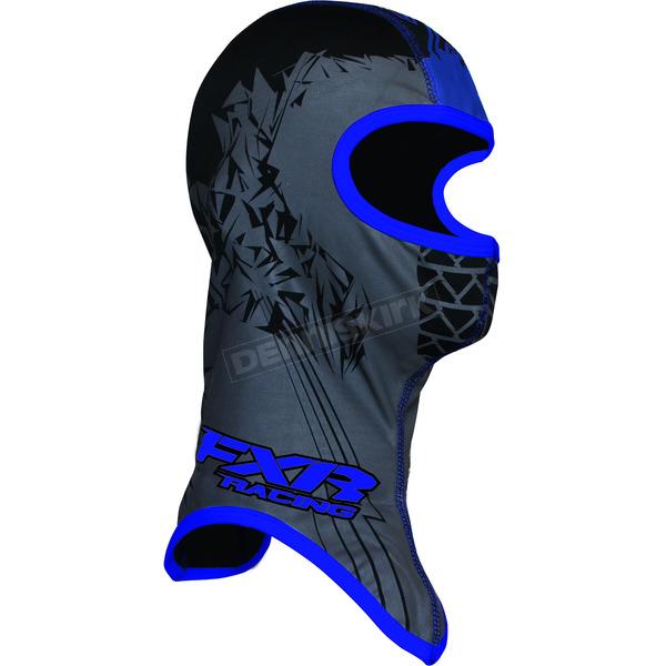FXR Racing Youth Black/Blue Shredder Balaclava - 2712.40107