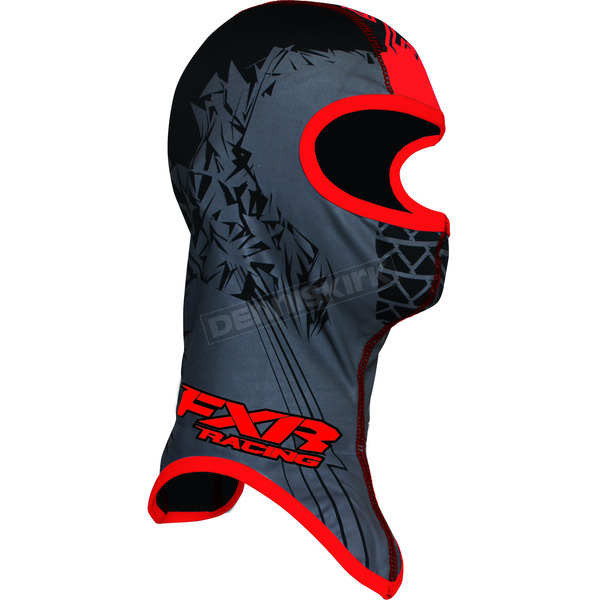 FXR Racing Youth Black/Red Shredder Balaclava - 2712.50107