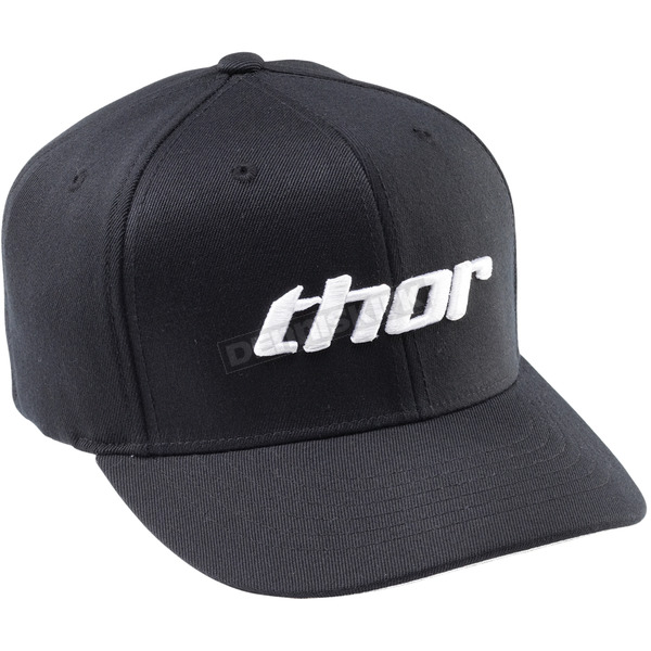 Thor Basic Curved Bill Black/White Hat - 25011214