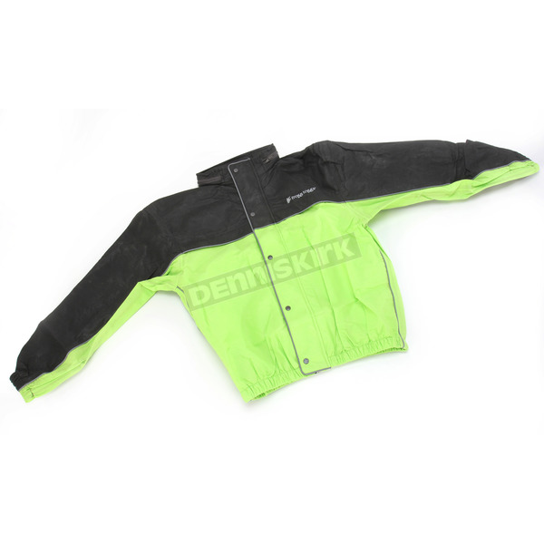 Frogg Toggs Hi-Viz Green/Black Road Toad Rain Jacket - FT63132-148MD