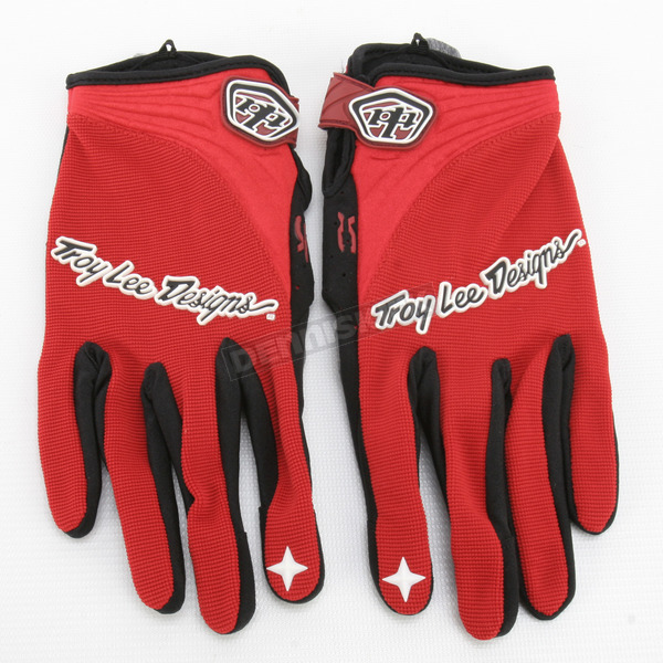 Troy Lee Designs Red XC Gloves - 0676-0410