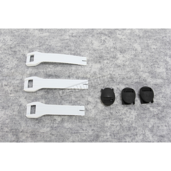 Moose Youth White Boot Strap Kit - 3430-0433