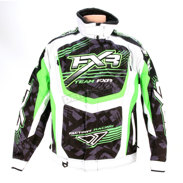 FXR Racing Green/White Strike Cold Cross Jacket - 13125
