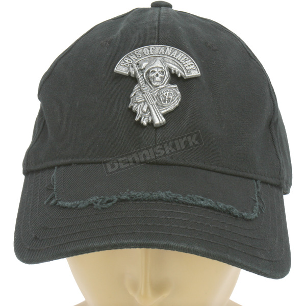 Sons of Anarchy Metal SOA Reaper Fitted Hat - ETSA2001-BK-L/XL
