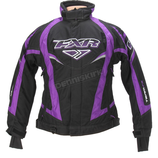 FXR Racing Womens Black/Purple Team Jacket - 13200