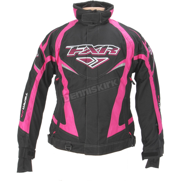 FXR Racing Womens Black/Fuchsia Team Jacket - 13200