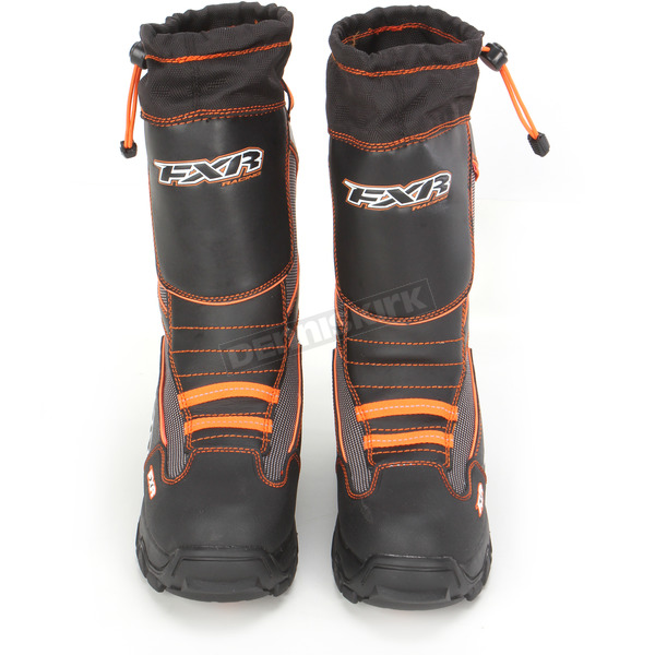 FXR Racing Black/Orange Unisex Excursion Boots - 13505.30110
