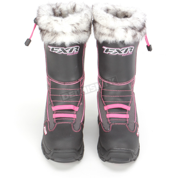 FXR Racing Womens Black/Fuchsia Excursion Boots - 13505.90107