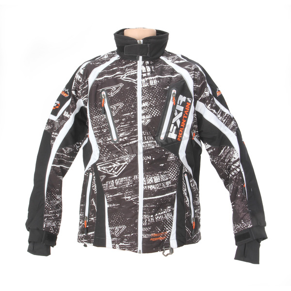 FXR Racing Black/White/Orange Boondocker Vapour Lite Jacket - 14104.02107