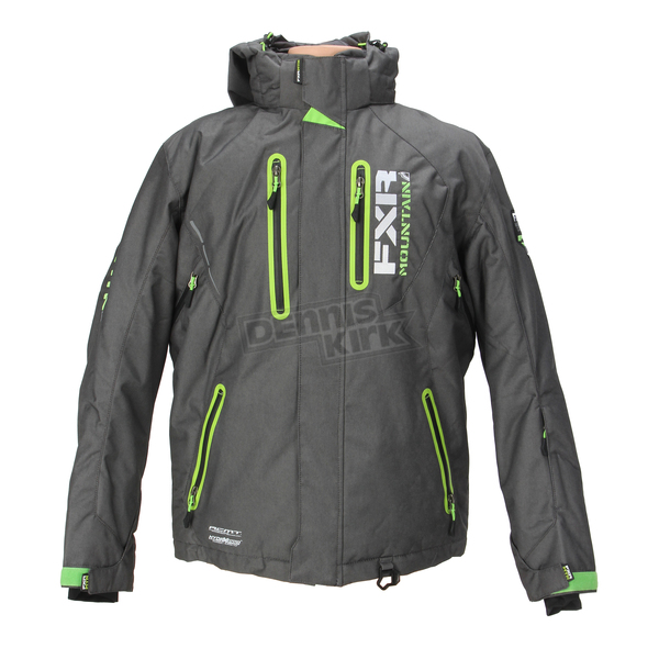FXR Racing Charcoal/Lime Recoil Jacket - 14106