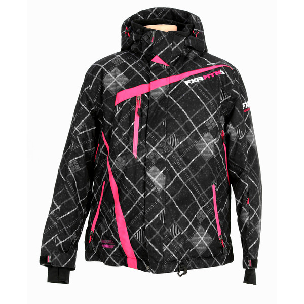 FXR Racing Womens Black Plaid Vertical Jacket - 14227