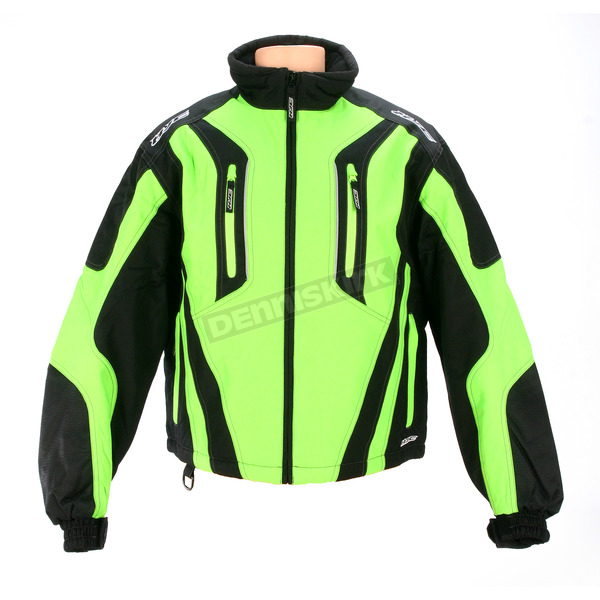 HJC Black/Green Storm Jacket - 1404-043