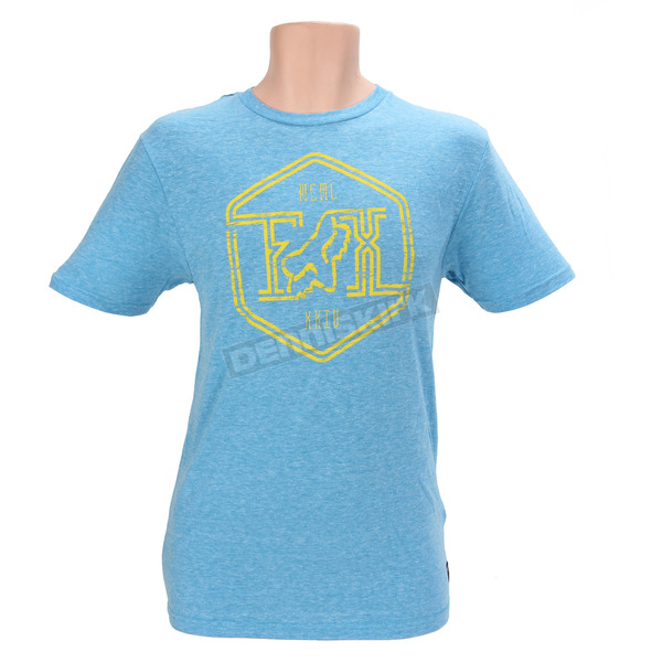 Fox Electric Blue Stern Style Premium T-Shirt - 09897-029-M