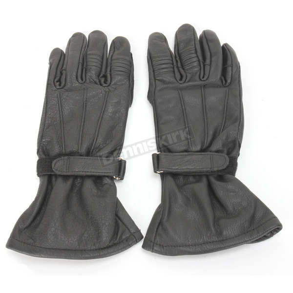 Biltwell Black Gauntlet Gloves - GG-XLG-01-BK