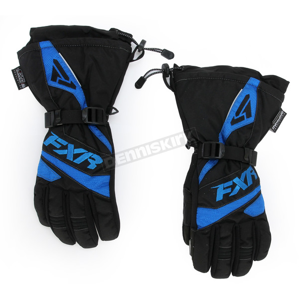 FXR Racing Black/Blue Fuel Gloves - 15606.40122