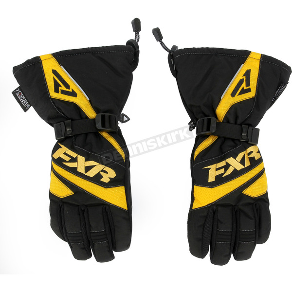 FXR Racing Black/Yellow Fuel Gloves - 15606.60122