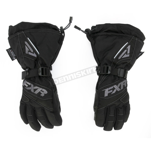 FXR Racing Womens Black/Charcoal Fusion Gloves - 15614.10016