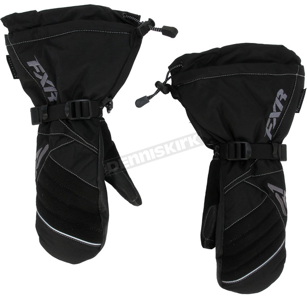 FXR Racing Womens Black/Charcoal Fusion Mitts - 15615.10016