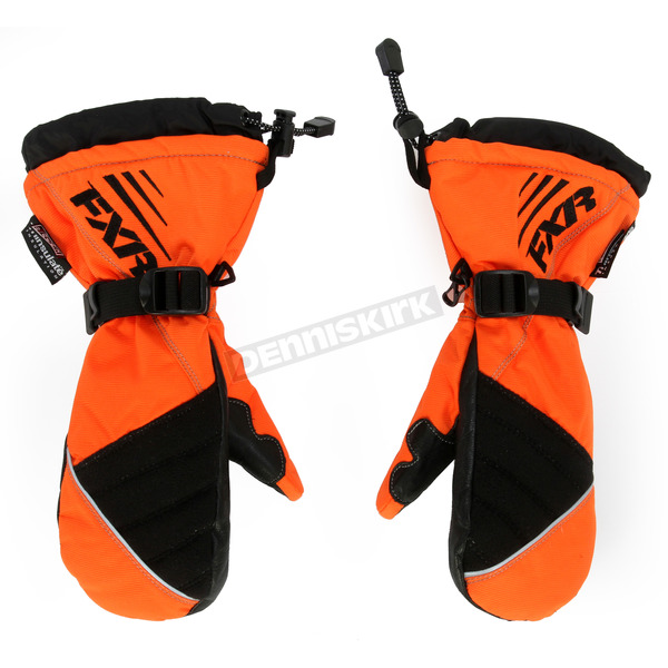FXR Racing Youth Orange Helix Race Mitts - 15618.30113