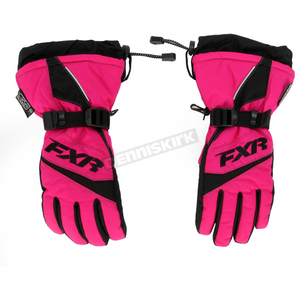 FXR Racing Youth Fuchsia Helix Race Gloves - 15620.90010