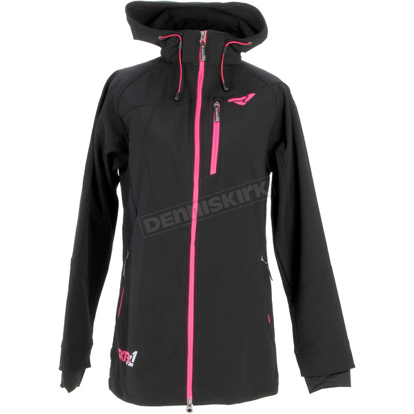 FXR Racing Womens Black Entice Extra Softshell Jacket - 15242.10004