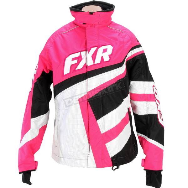 FXR Racing Womens Black/Fuchsia Cold Cross Jacket - 15204.90104