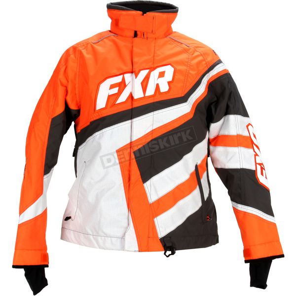FXR Racing Womens Black/Orange Cold Cross Jacket - 15204.30104