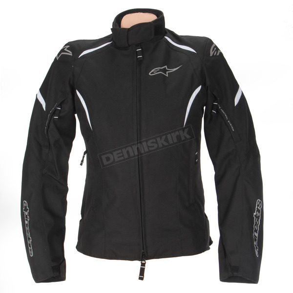 Alpinestars Womens Black/White Stella Gunner Waterproof Jacket - 3216815-12-2X