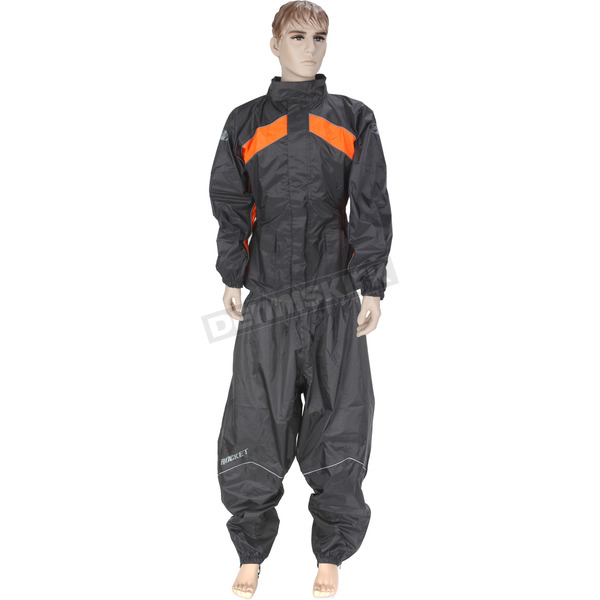 Joe Rocket Black/Orange RS-2 Two Piece Rainsuit - 1010-2705