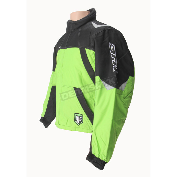 HJC Green/Black/Silver Storm Snowmobile Jacket  - 1405-044
