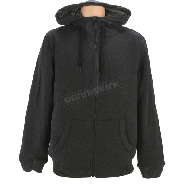 Fox Heather Black Ranked Sasquatch Zip Hoody - 11248-243-M