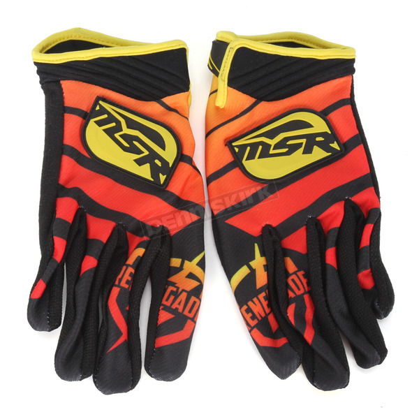 MSR Racing Black/Yellow/Red Renegade Gloves - 352169