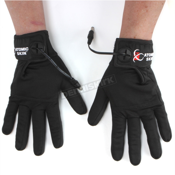 Atomic Skin Black Heated Glove Liners w/Heat Controller - PHG-414-S