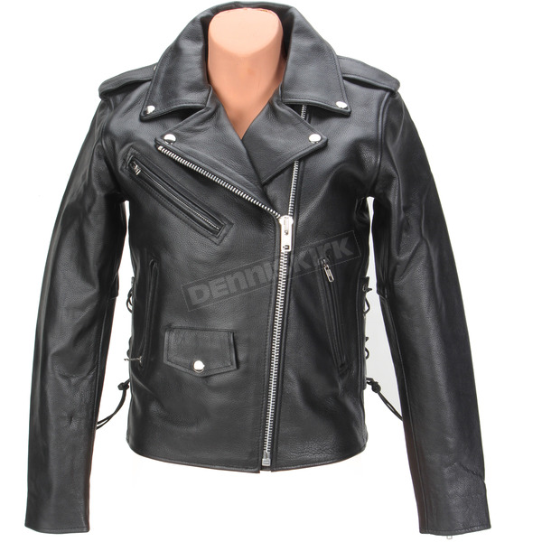 Z1R Womens Black 9mm Leather Jacket - 2813-0621