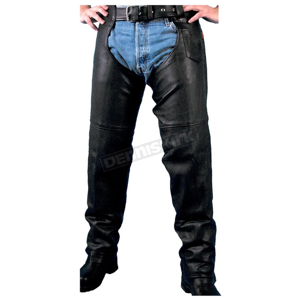 Hot Leathers Unisex Heavyweight Naked Leather Chaps - CHM1005L