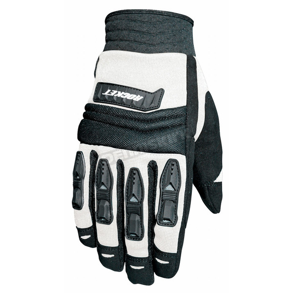 Joe Rocket Velocity Black/White Gloves - 1056-4704